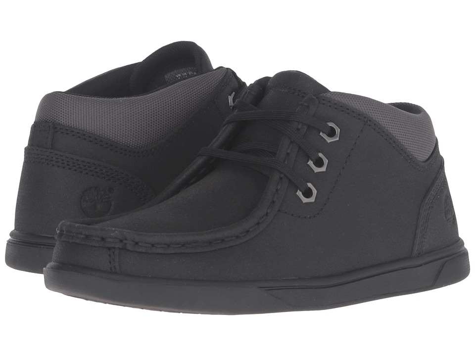 Timberland Kids - Groveton Leather Moc Toe Chukka (Little Kid) (Black Tech Tuff Leather) Kid's Shoes