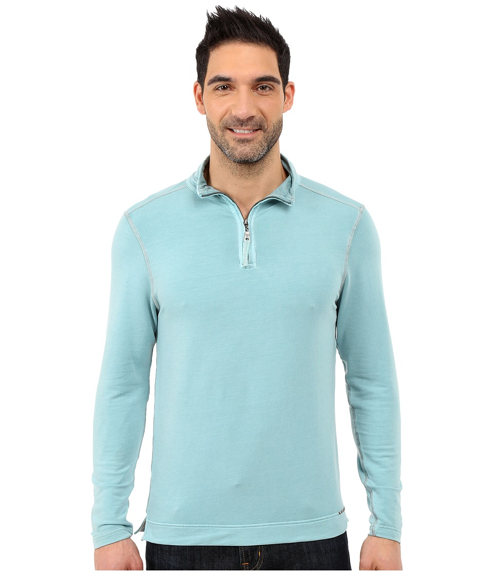True Grit - Lightweight Tencel 1/2 Zip Pullover (Soft Blue) Men's Long Sleeve Pullover