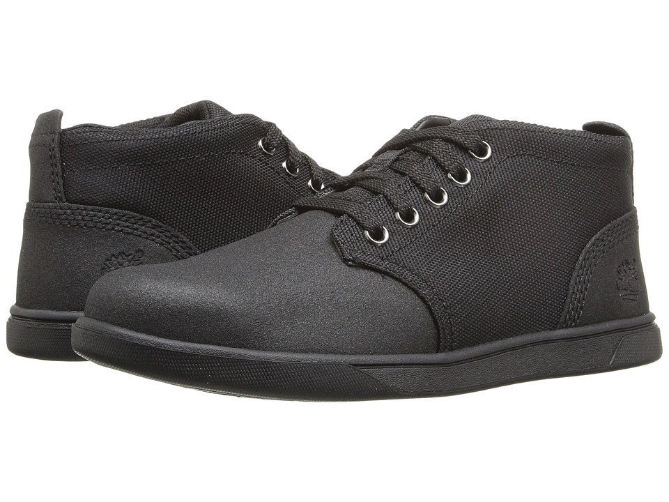Timberland Kids - Groveton Chukka Leather and Fabric (Little Kid) (Black Tech Tuff Leather) Kid's Shoes