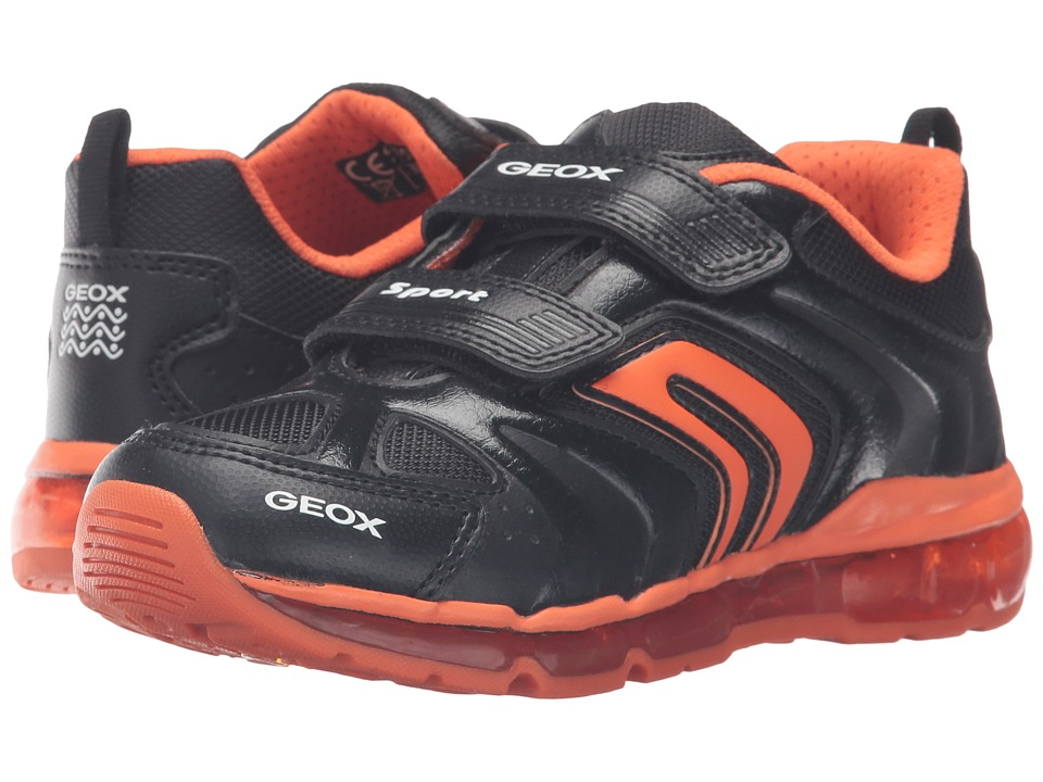 Geox Kids - Jr Android Boy 9 (Little Kid/Big Kid) (Black/Orange) Boy's Shoes