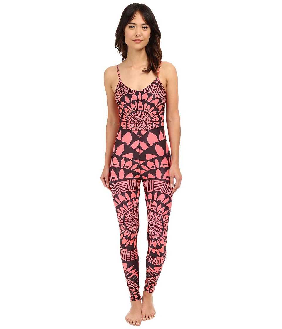 Mara Hoffman - Peacefield Bodysuit (Black/Coral) Women's Jumpsuit & Rompers One Piece