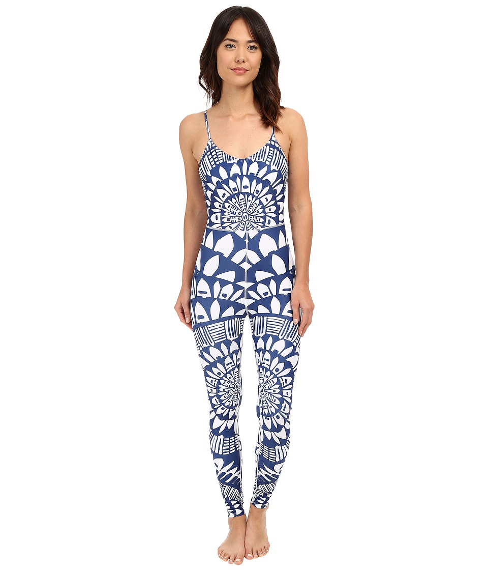 Mara Hoffman - Peacefield Bodysuit (Navy/White) Women's Jumpsuit & Rompers One Piece