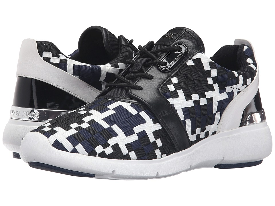 MICHAEL Michael Kors Amanda Trainer (Navy/Black Mixed Woven Webbing/Suprema Nappa Sport) Women