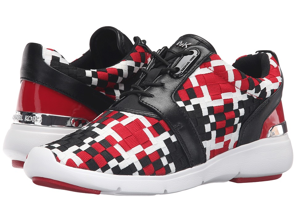 MICHAEL Michael Kors Amanda Trainer (Crimson/Black Mixed Woven Webbing/Suprema Nappa Sport) Women