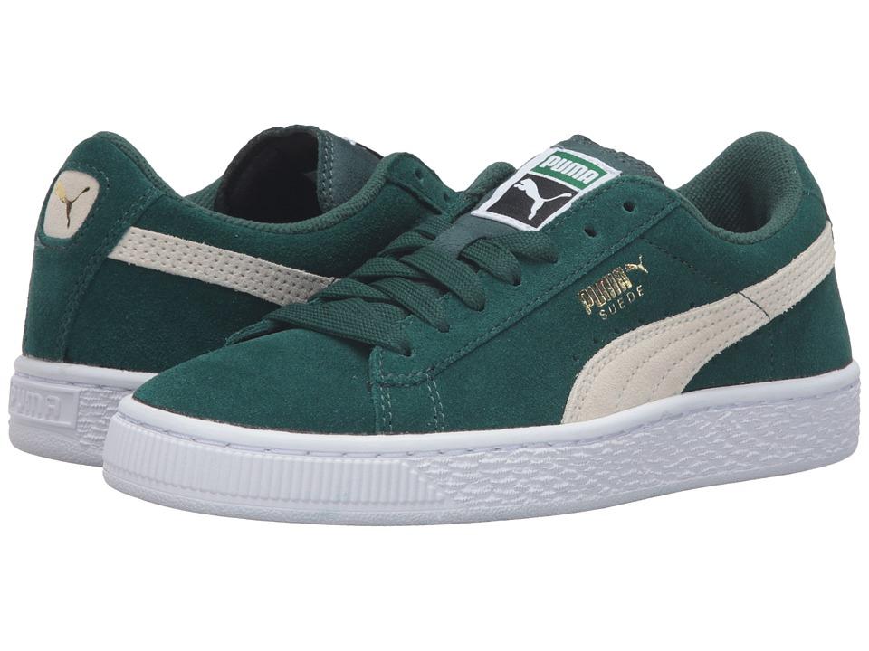 Puma Kids Suede Jr (Big Kid) (Ponderosa Pine/Birch) Boys Shoes
