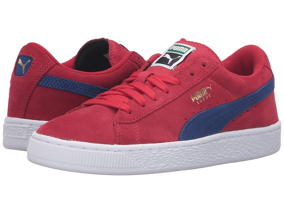 Puma Kids Suede Jr (Big Kid) (Barbados Cherry/Mazarine Blue) Boys Shoes