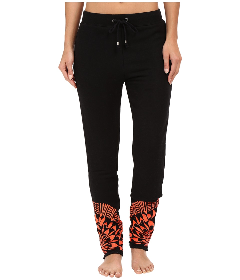 Mara Hoffman - Peacfield Sweatpants (Black/Coral) Women's Casual Pants