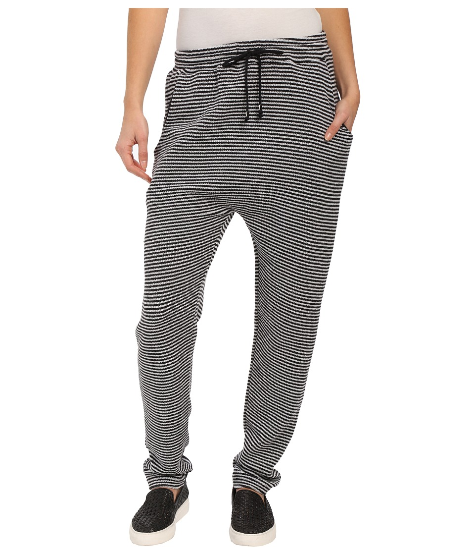 Mara Hoffman - Stripe Sweatpants (Black/White) Women's Casual Pants