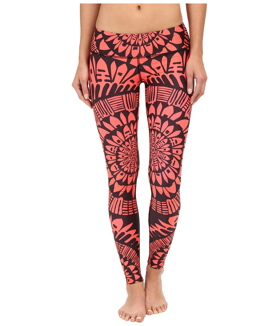 Mara Hoffman - Peacefield Long Leggings (Black/Coral) Women's Casual Pants