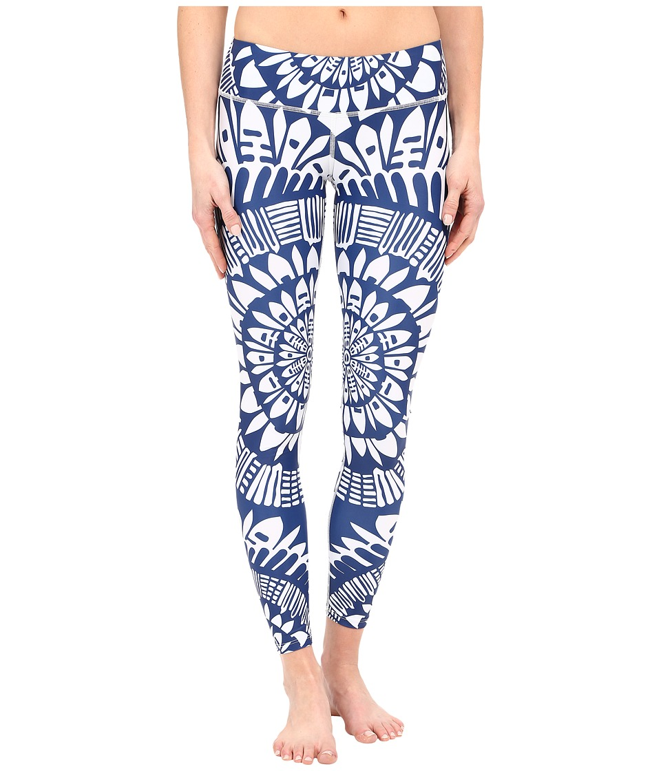 Mara Hoffman - Peacefield Long Leggings (Navy/White) Women's Casual Pants