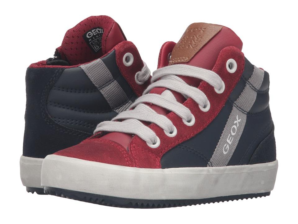 Geox Kids - Jr Alonisso Boy 2 (Toddler/Little Kid) (Navy/Red) Boy's Shoes