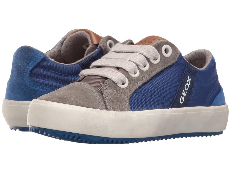 Geox Kids - Jr Alonisso Boy 1 (Toddler/Little Kid) (Royal/Grey) Boy's Shoes