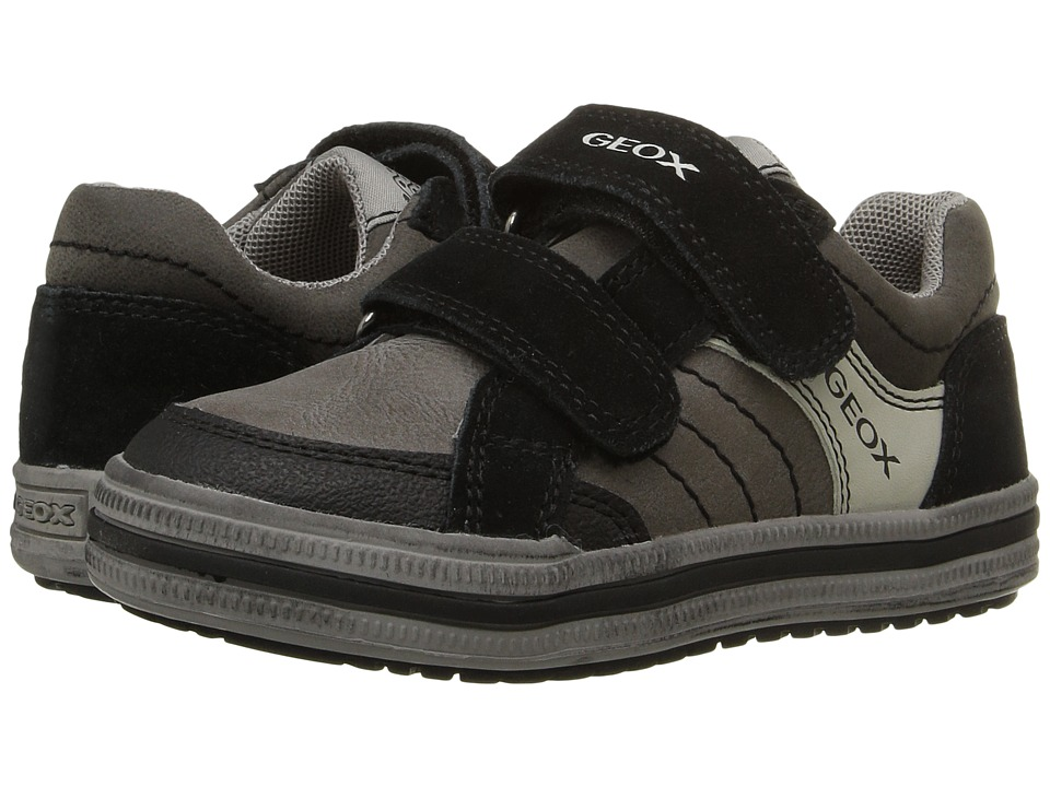 Geox Kids - Jr Elvis 31 (Toddler/Little Kid) (Dark Grey/Black) Boy's Shoes