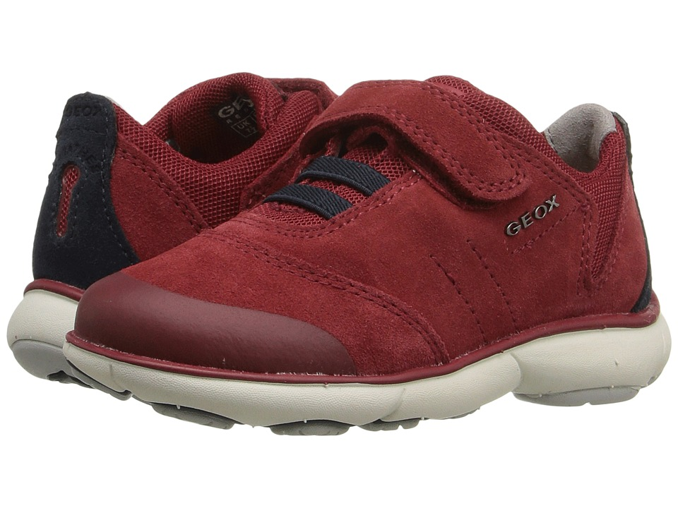 Geox Kids - Jr Nebula Boy 1 (Toddler/Little Kid) (Red/Navy) Boy's Shoes