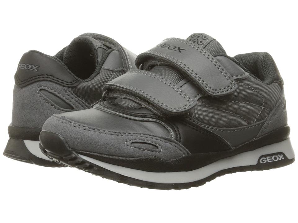 Geox Kids - Jr Pavel 14 (Toddler/Little Kid) (Dark Grey/Black) Boy's Shoes