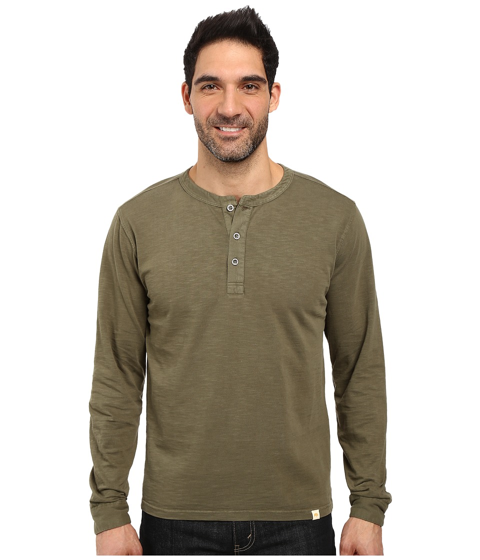 Mountain Khakis - Mixter Henley Shirt (Field Green) Men's Clothing
