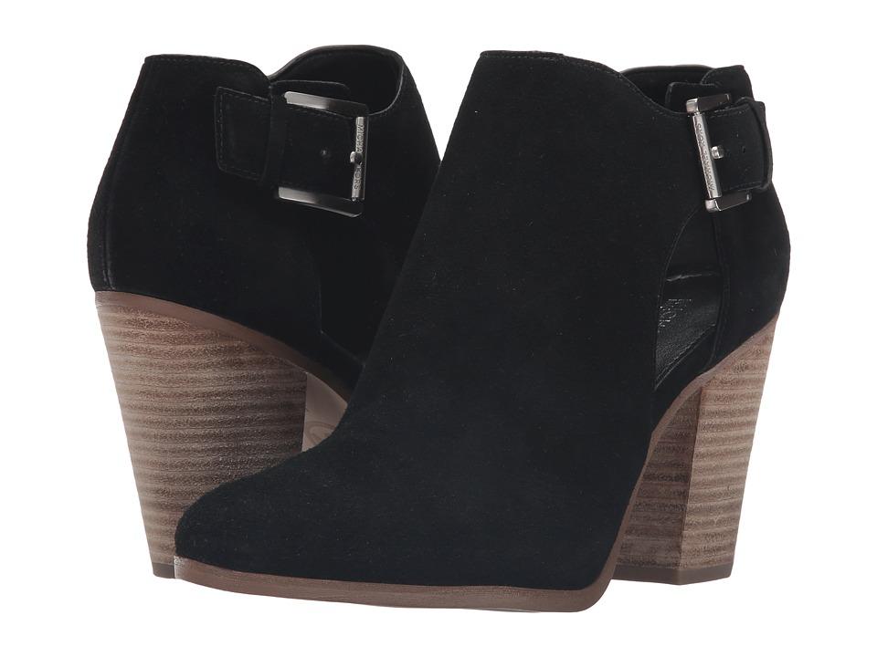 MICHAEL Michael Kors Adams Bootie Black Sport Suede Boots