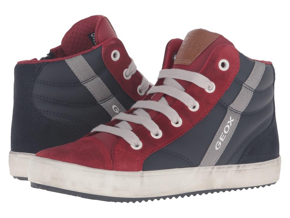 Geox Kids - Jr Alonisso Boy 2 (Little Kid/Big Kid) (Navy/Red) Boy's Shoes