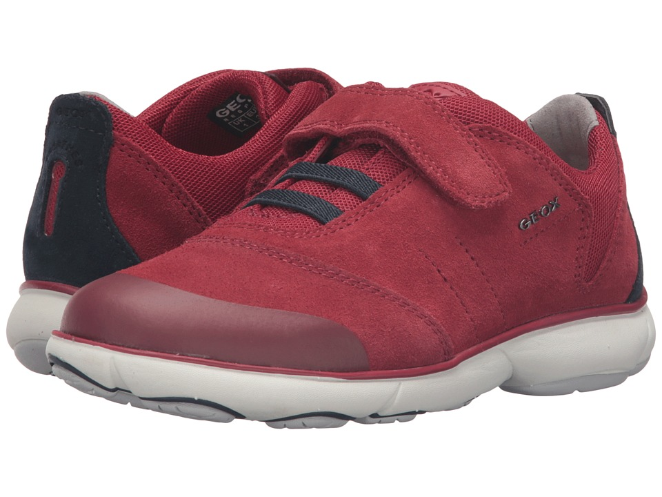 Geox Kids - Jr Nebula Boy 1 (Little Kid/Big Kid) (Red/Navy) Boy's Shoes