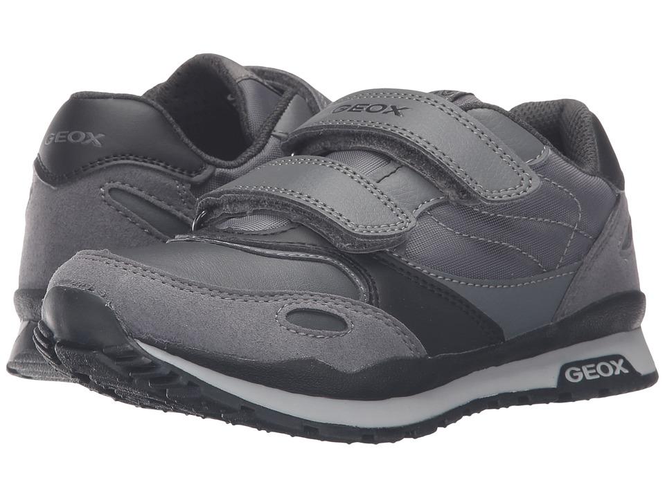 Geox Kids - Jr Pavel 14 (Little Kid/Big Kid) (Dark Grey/Black) Boy's Shoes