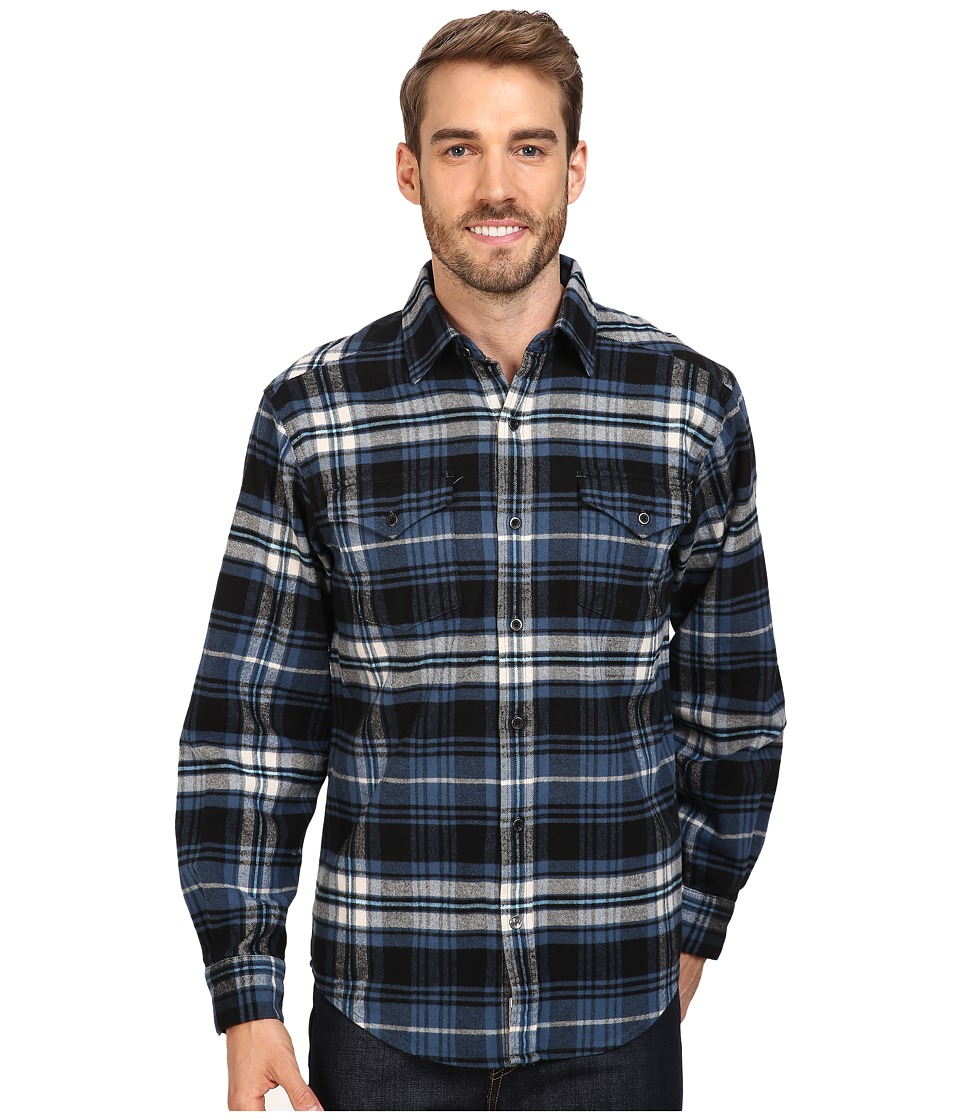 Mountain Khakis - Teton Flannel Shirt (Steel Blue) Men's Clothing