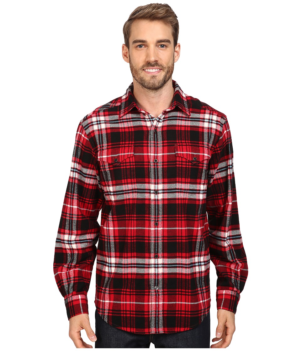Mountain Khakis - Teton Flannel Shirt (Cardinal Multi) Men's Clothing