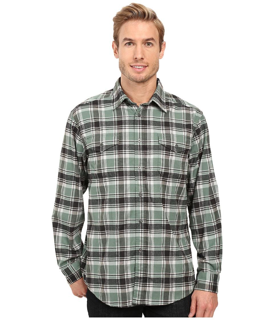Mountain Khakis - Peaks Flannel Shirt (Wintergreen) Men's Clothing
