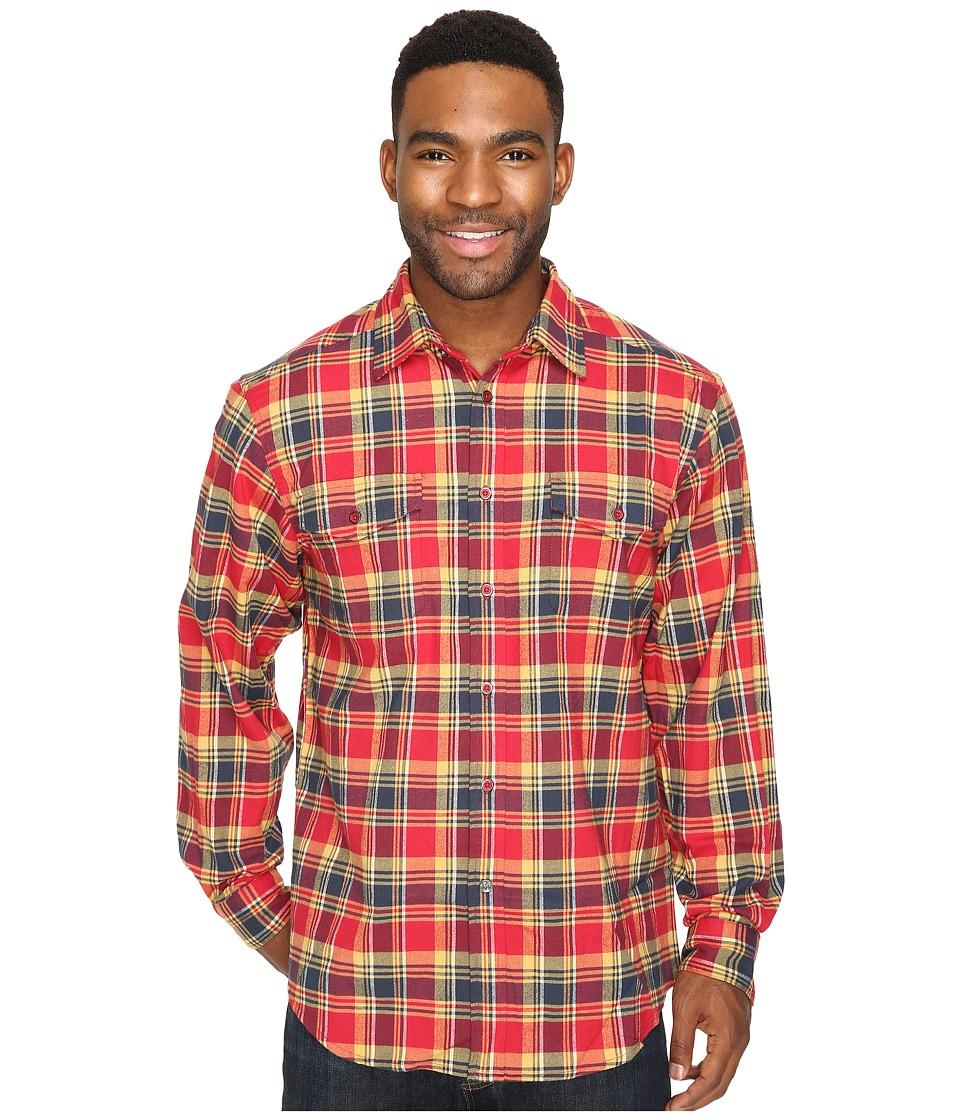Mountain Khakis - Peaks Flannel Shirt (Cardinal) Men's Clothing