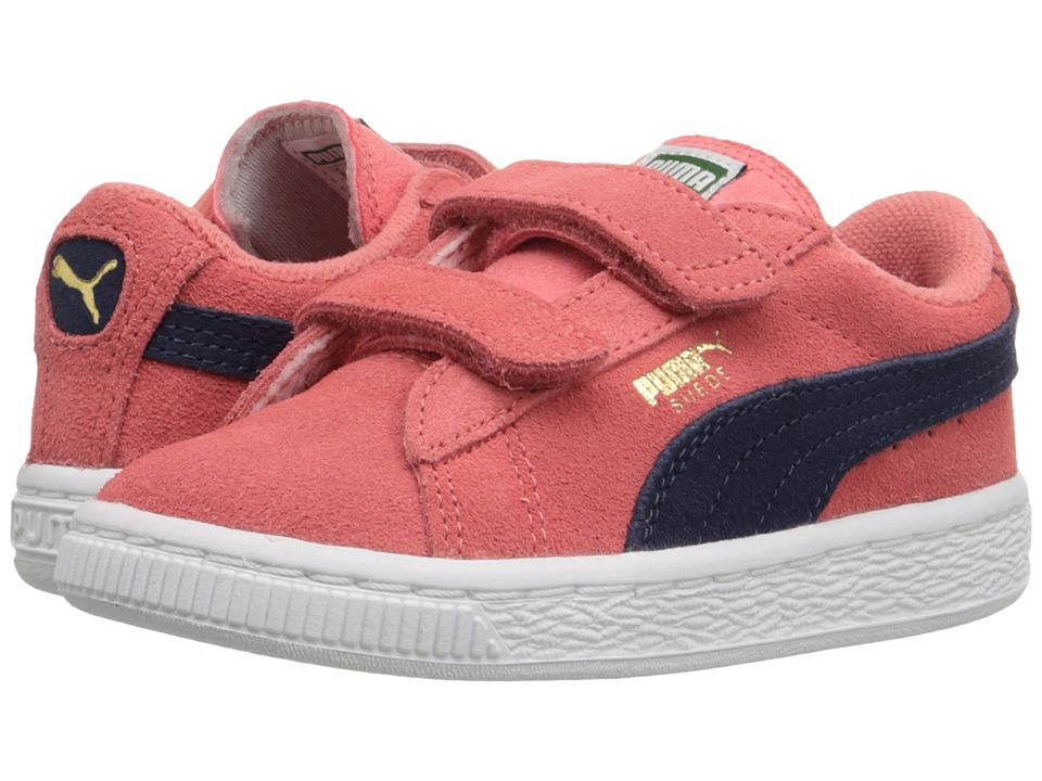 Puma Kids - Suede 2 Straps Inf (Toddler) (Porcelain Rose/Peacoat) Girls Shoes