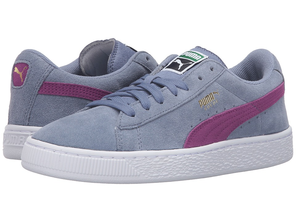 Puma Kids - Suede Jr (Big Kid) (Tempest/Hollyhock) Girls Shoes