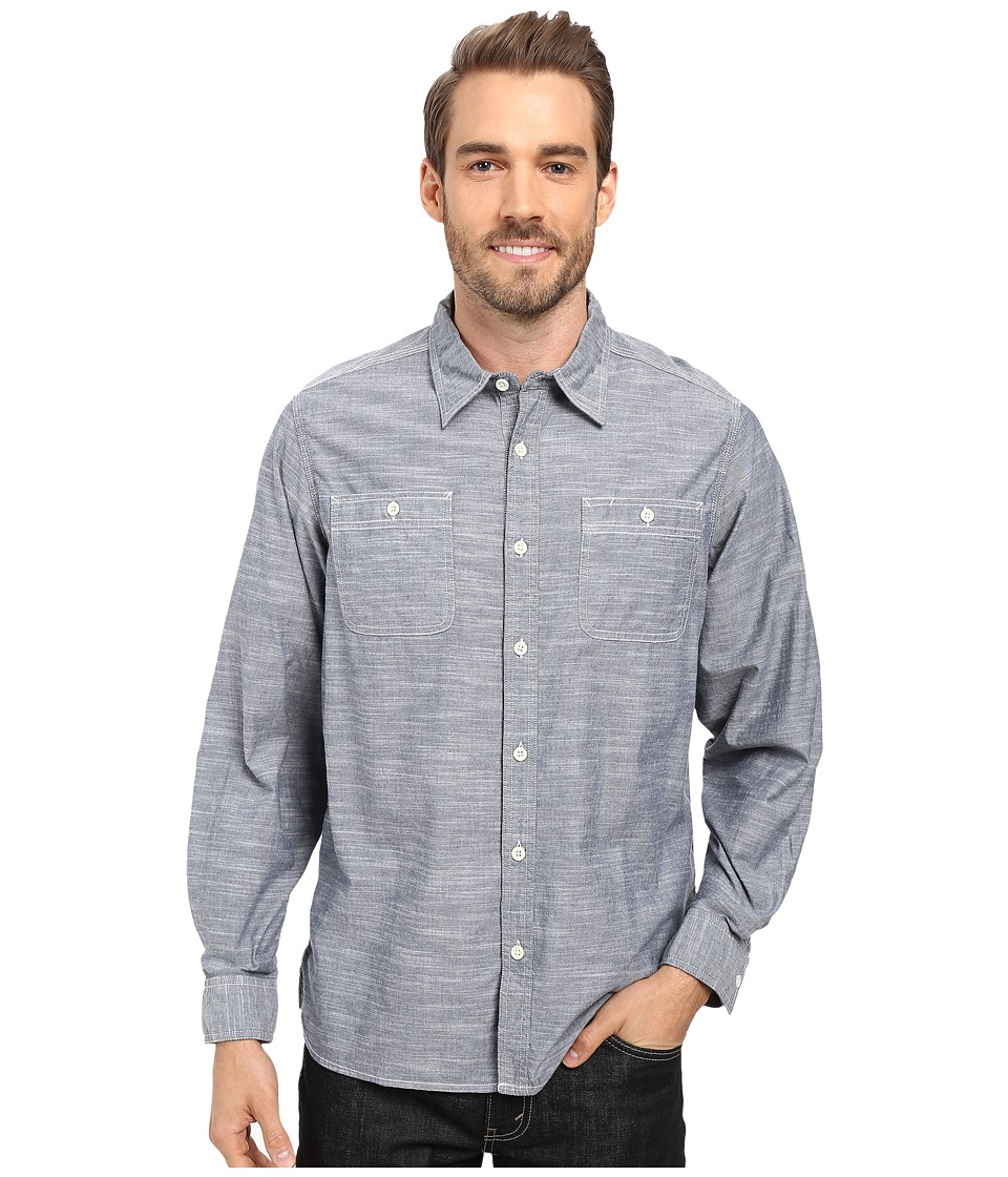 Mountain Khakis - Mountain Chambray Long Sleeve Shirt (Navy) Men's Clothing
