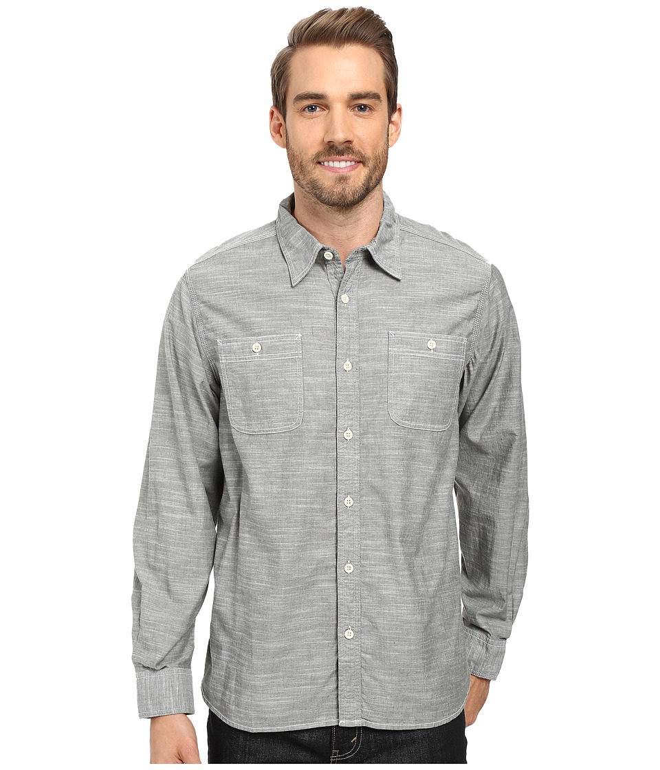 Mountain Khakis - Mountain Chambray Long Sleeve Shirt (Rainforest) Men's Clothing