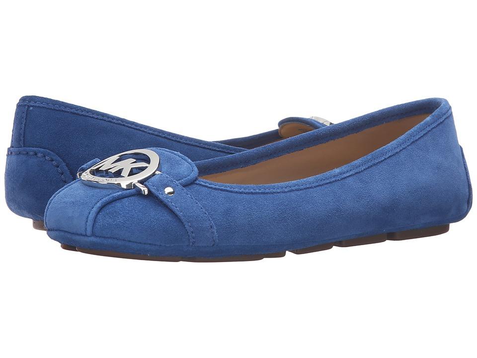 MICHAEL Michael Kors - Fulton Moc (Vintage Blue Sport Suede) Women's Flat Shoes
