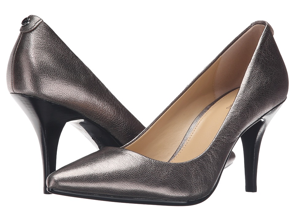 MICHAEL Michael Kors MK Flex Mid Pump Gunmetal Tumbled Metallic High Heels