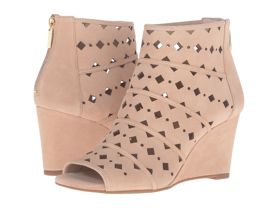 MICHAEL Michael Kors - Uma Wedge (Bisque Sport Suede Geo Cut Out) Women's Wedge Shoes