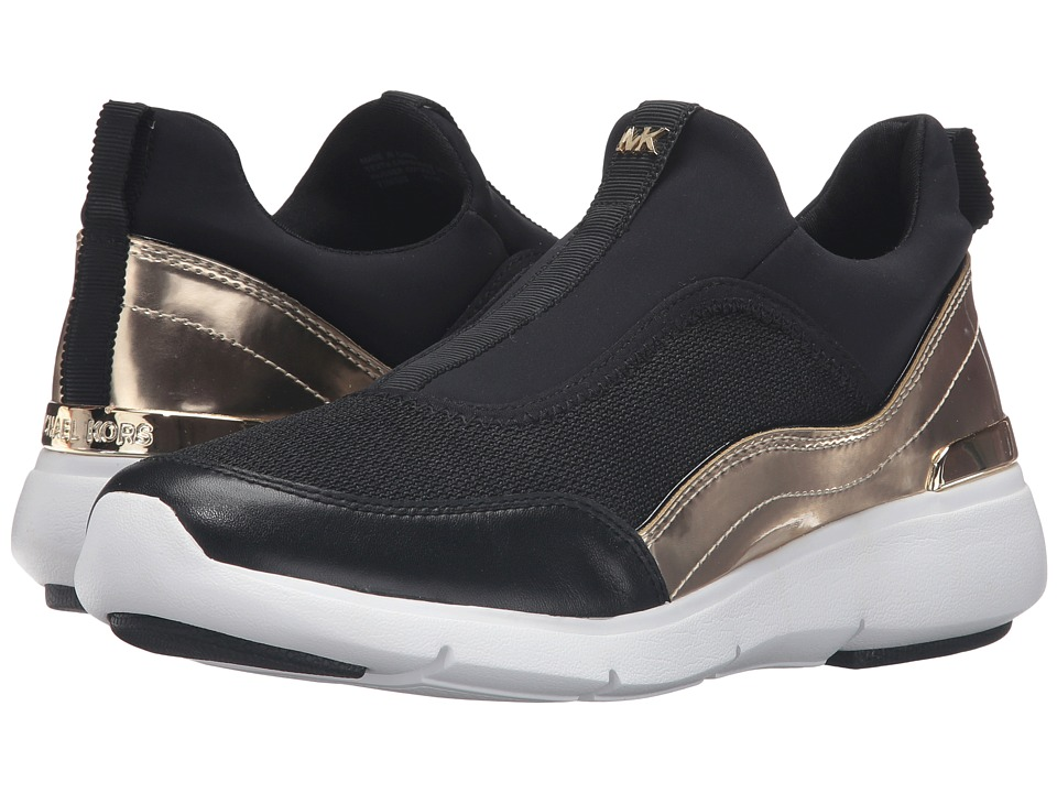 MICHAEL Michael Kors - Ace Sneaker (Black/Pale Gold Bike Mesh/Mirror Metallic/Scuba) Women's Shoes