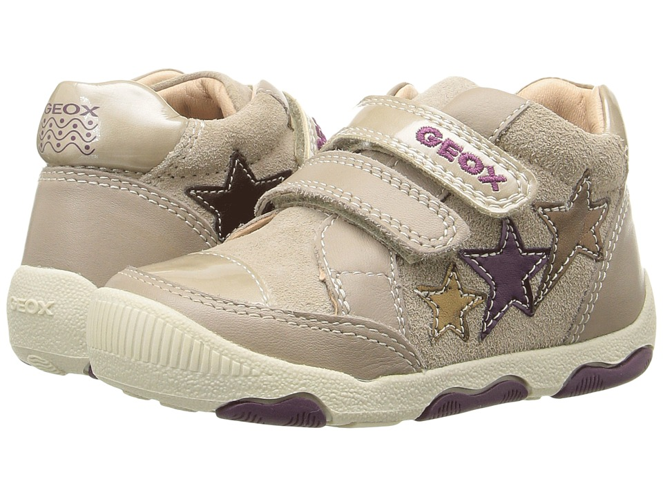 Geox Kids - Baby New Balu Girl 1 (Infant/Toddler) (Beige/Multicolor) Girl's Shoes