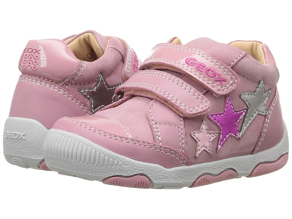 Geox Kids - Baby New Balu Girl 3 (Infant/Toddler) (Pink/Multicolor) Girl's Shoes
