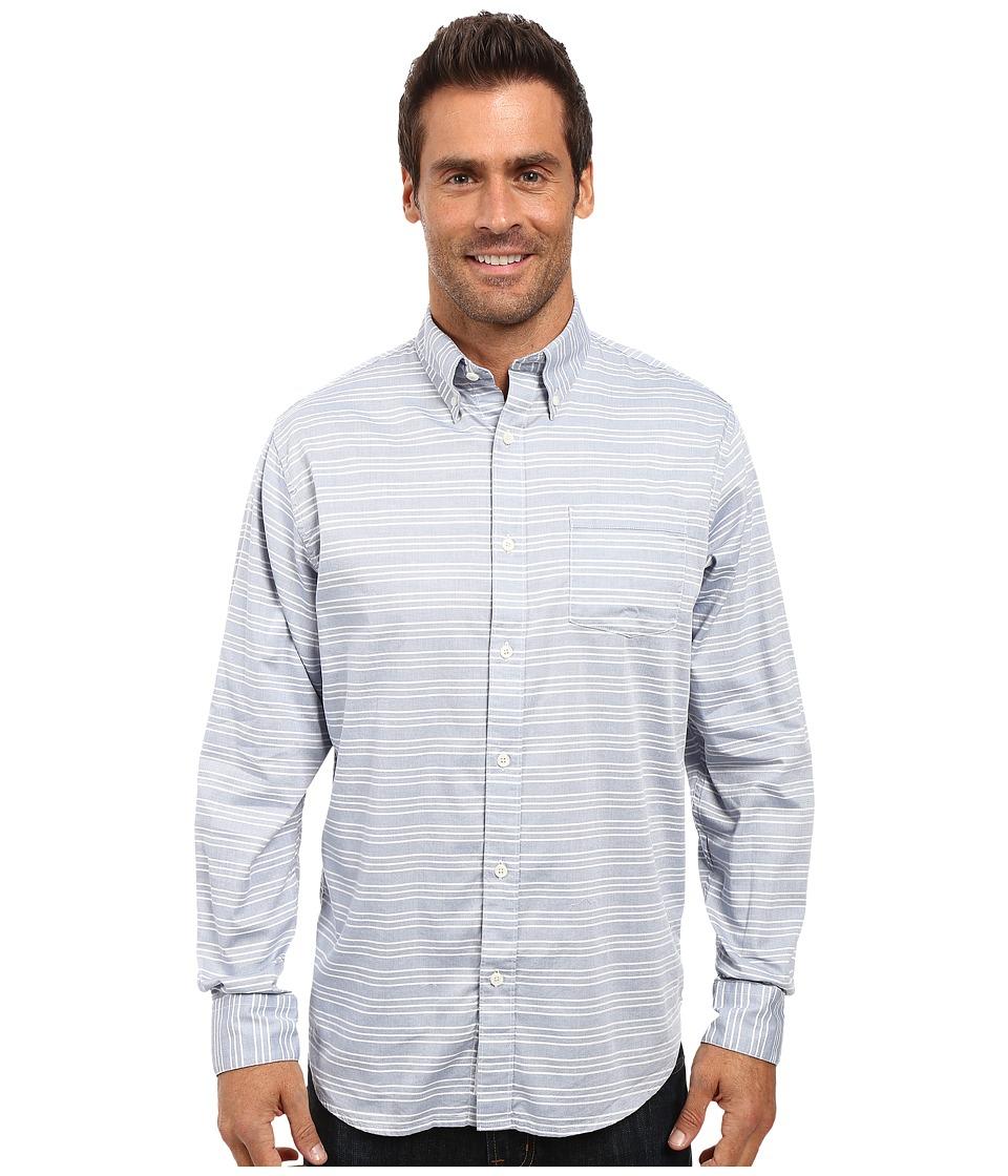 Mountain Khakis - Davidson Stretch Oxford Shirt (Moonlit Horizontal) Men's Clothing
