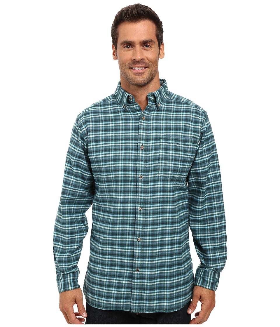 Mountain Khakis - Downtown Flannel Shirt (Deep Jade) Men's Clothing