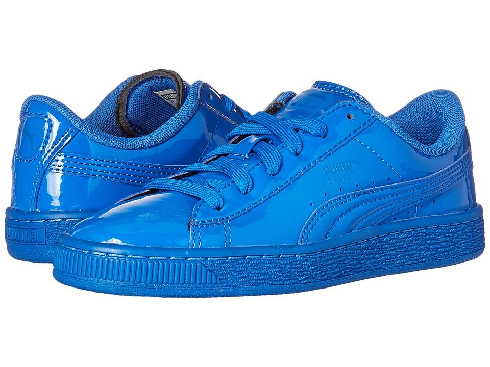 Puma Kids - Basket Classic Patent Jr (Big Kid) (Puma Royal/Puma Royal) Boys Shoes