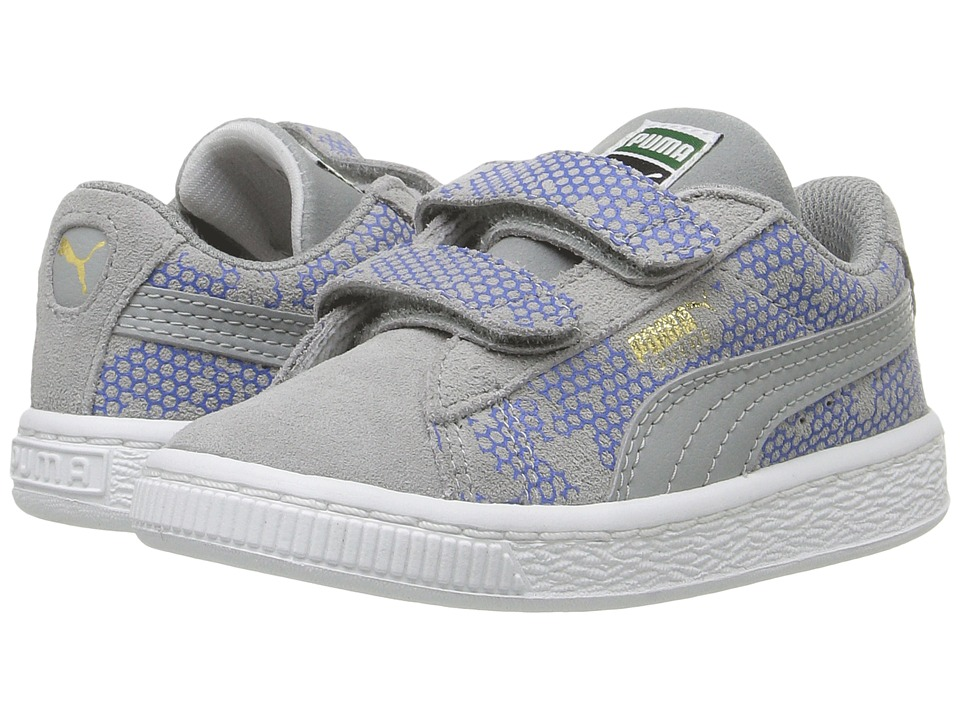 Puma Kids - Suede Night Camo V Inf (Toddler) (Limestone/Puma Royal) Girls Shoes
