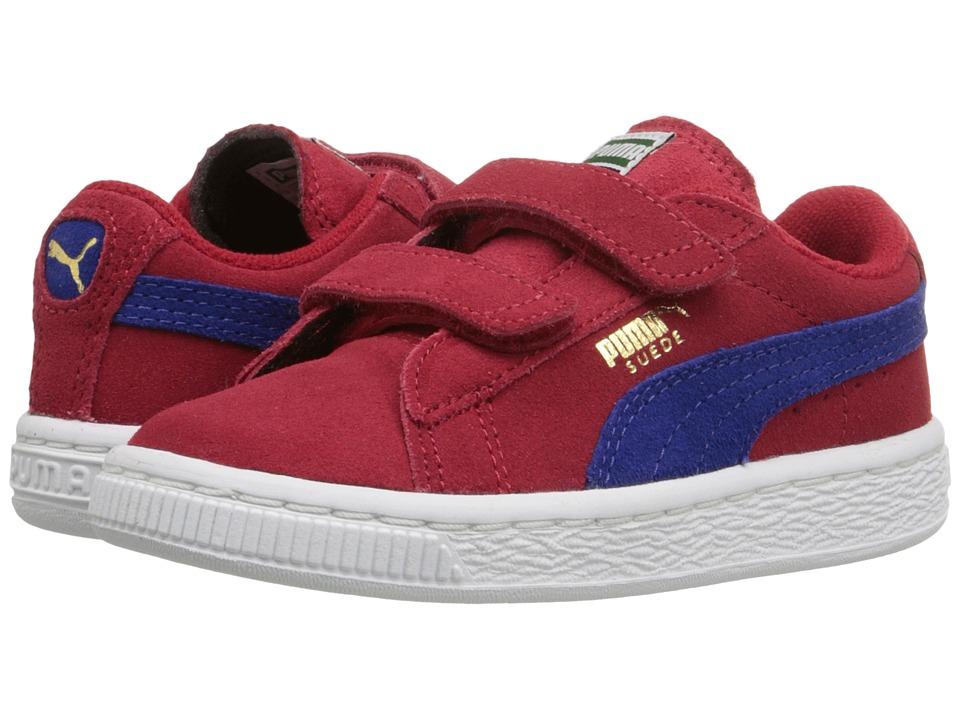 Puma Kids Suede 2 Straps Inf (Toddler) (Barbados Cherry/Mazarine Blue) Boys Shoes