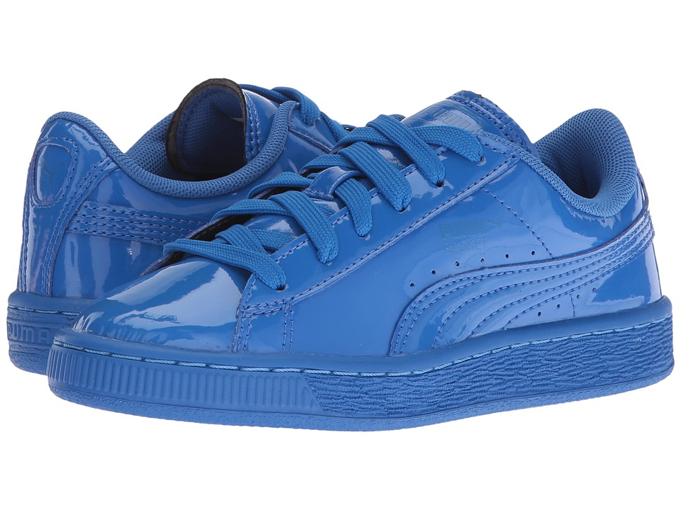 Puma Kids - Basket Classic Patent PS (Little Kid/Big Kid) (Puma Royal/Puma Royal) Boys Shoes
