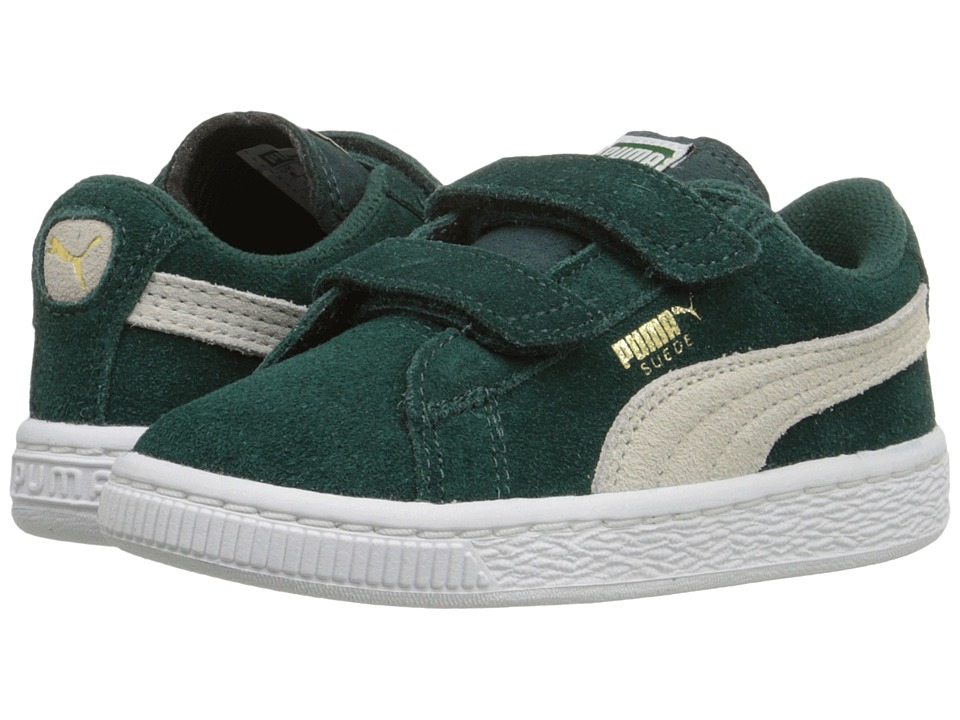 Puma Kids Suede 2 Straps Inf (Toddler) (Ponderosa Pine/Birch) Boys Shoes
