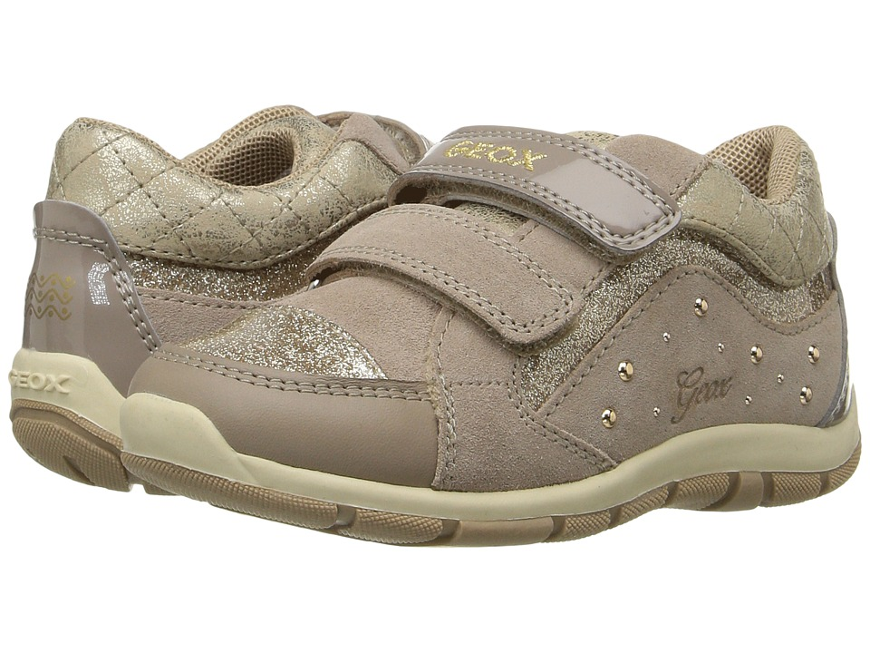 Geox Kids - Baby Shaax Girl 14 (Toddler) (Beige) Girl's Shoes