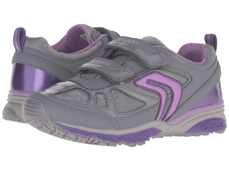 Geox Kids - Jr Bernie Girl 5 (Toddler/Little Kid) (Grey) Girl's Shoes