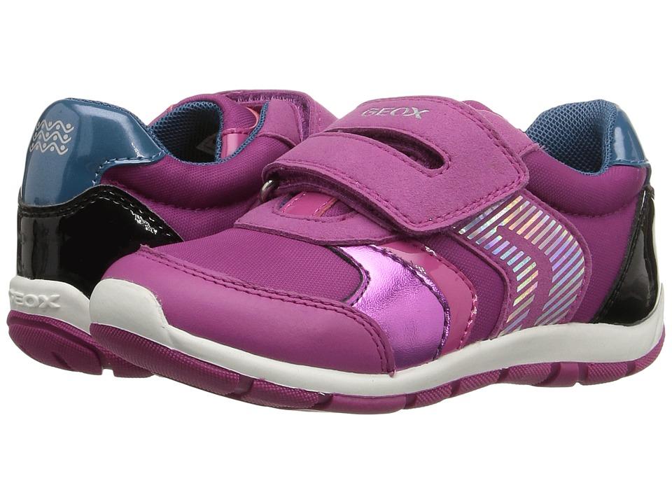 Geox Kids - Baby Shaax Girl 13 (Toddler) (Fuchsia/Black) Girl's Shoes