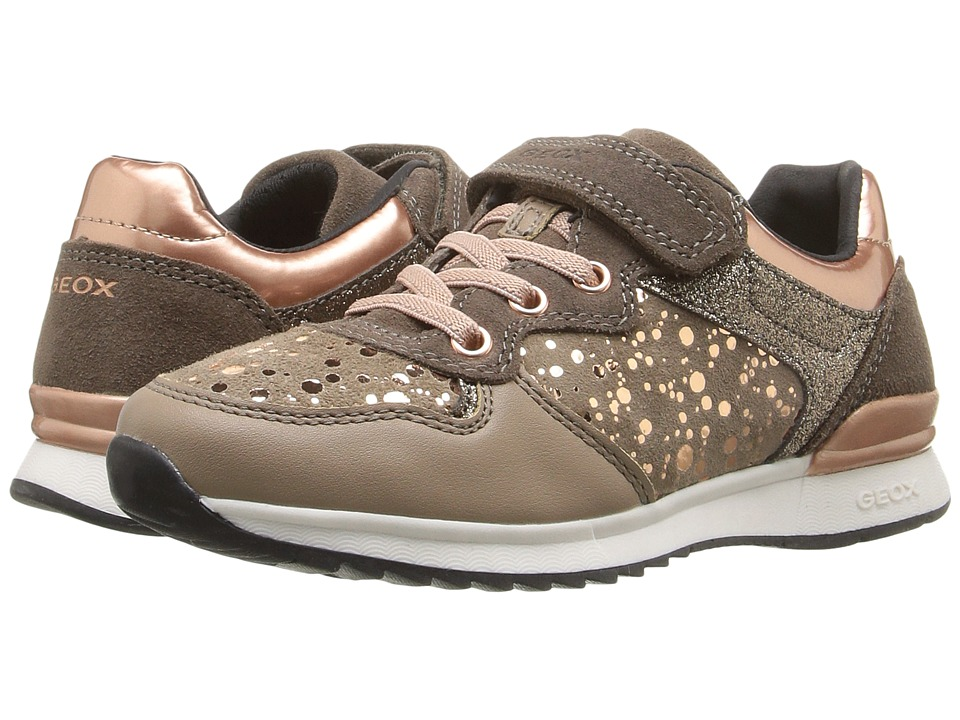 Geox Kids - Jr Maisie Girl 6 (Little Kid/Big Kid) (Dark Beige) Girl's Shoes