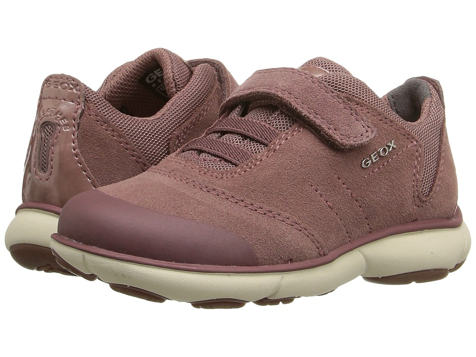 Geox Kids - Jr Nebula Girl 1 (Toddler/Little Kid) (Old Rose) Girl's Shoes